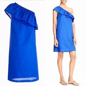J. CREW One Shoulder Dress Linen Dress